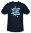 Batman T-Shirt - Mr Freeze Adult Navy Tee