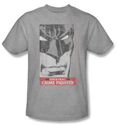 Batman T-Shirt - Original Crime Fighter Adult Heather Grey Tee