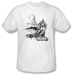 Batman T-Shirt - Overseer Adult White Tee
