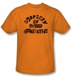 Batman T-Shirt - Property Of Arkham Adult Orange Tee