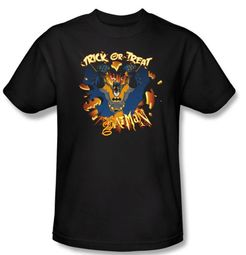 Batman T-Shirt - Pumpkin Burst Adult Black Tee