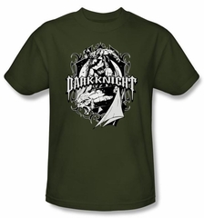 Batman T-Shirt - Ready To Strike Adult Military Green Tee