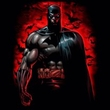 Batman T-Shirt - Red Knight Adult Black Tee