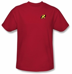Batman T-Shirt - Robin Logo Adult Red Tee