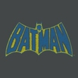 Batman T-Shirt - Sketch Logo Adult Charcoal Tee