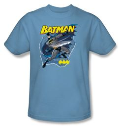 Batman T-Shirt - Taste The Metal Adult Carolina Blue Tee