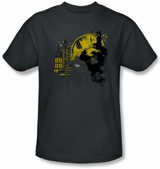 Batman T-Shirt - The Dark City Adult Charcoal Grey Tee