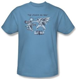 Batman T-Shirt - The Joke's On You Adult Carolina Blue Tee
