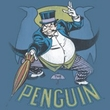 Batman T-Shirt - The Penguin Adult Slate Blue Tee