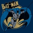 Batman T-Shirt - Through The Night Adult Navy Blue Tee