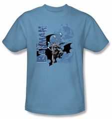 Batman T-Shirt - Throwing Blades Adult Blue Tee