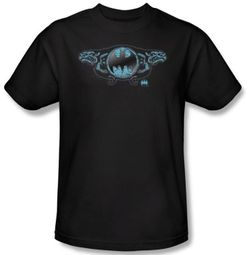 Batman T-Shirt - Two Gargoyles Logo Adult Black Tee