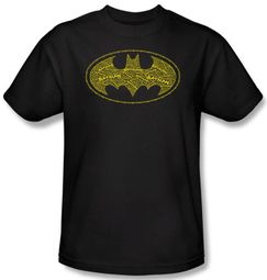 Batman T-Shirt - Type Logo Adult Black Tee