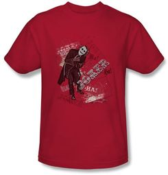 Batman T-Shirt - Unbalanced Deck Adult Red Tee