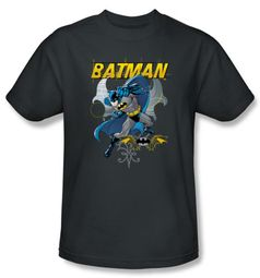 Batman T-Shirt - Urban Goth Adult Charcoal Grey Tee
