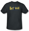 Batman T-Shirt - Vintage Logo Splatter Adult Charcoal Grey Tee