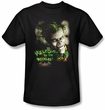 Batman T-Shirt - Welcome To The Madhouse Adult Black