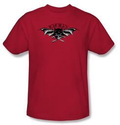 Batman T-Shirt - Wings Of Wrath Adult Red Tee