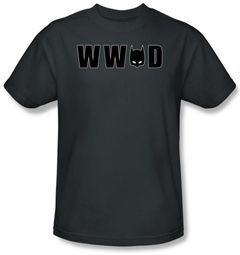 Batman T-Shirt - WWBD Mask Adult Charcoal Tee