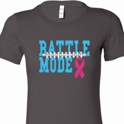 Battle Mode Ladies Breast Cancer Awareness Shirts