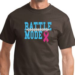 Battle Mode Mens Breast Cancer Awareness Shirts
