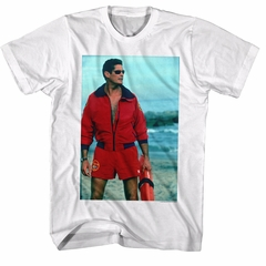 Baywatch Shirt Hoff On The Beach White T-Shirt