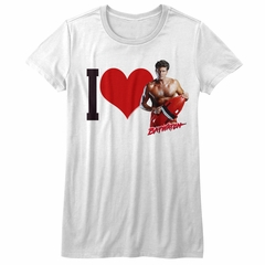Baywatch Shirt Juniors Heart Hoff White T-Shirt
