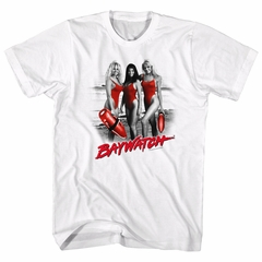 Baywatch Shirt Red Accents White T-Shirt