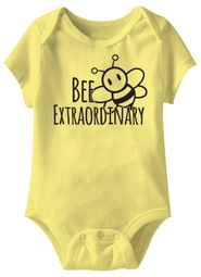 Bee Extraordinary Funny Baby Romper Yellow Infant Babies Creeper