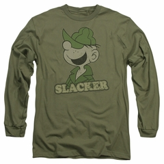 Beetle Bailey Long Sleeve Shirt Slacker Military Green Tee T-Shirt