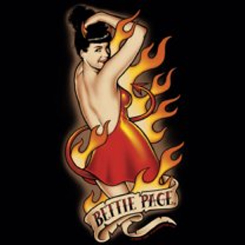 Bettie Page NOTORIOUS COLOR Licensed Adult T-Shirt All Sizes
