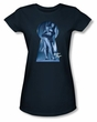 Betty Bettie Page Juniors Shirt I See You Navy T-shirt
