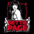 Betty Bettie Page Juniors Shirt Scary Hot Black T-shirt