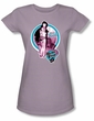 Betty Bettie Page Juniors Shirt What A Tease Lilac T-shirt