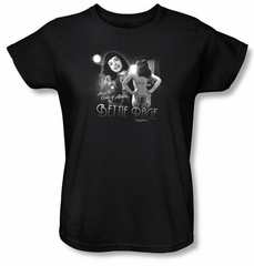 Betty Bettie Page Ladies Shirt Center Of Attention Black T-shirt