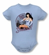 Betty Bettie Page Romper Cowgirl Infant Baby Light Blue Snapsuit
