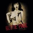 Betty Bettie Page Shirt Distressed Tease Black T-shirt