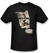 Betty Bettie Page Shirt Newspaper And Lace Black T-shirt