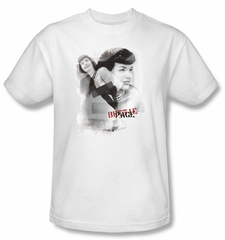 Betty Bettie Page Shirt Transparent Brands White T-shirt