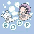 Betty Boop Baby Romper Infant Creeper Baby Bubbles Light Blue