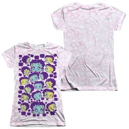 Betty Boop Boop & Repeat Sublimation Juniors Shirt Front/Back Print