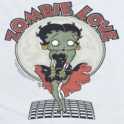 Betty Boop Breezy Zombie Love Shirts