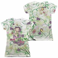 Betty Boop Flower Fairy Sublimation Juniors Shirt Front/Back Print