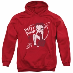 Betty Boop Hoodie Lover Girl Red Sweatshirt Hoody