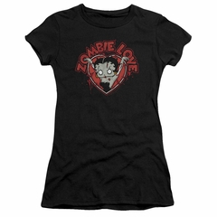 Betty Boop Juniors Shirt Heart You Forever Black T-Shirt