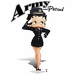 Betty Boop Juniors T-shirt Army Boop White Tee
