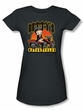 Betty Boop Juniors T-shirt Betty's Motorcycles Charcoal Tee