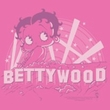 Betty Boop Juniors T-shirt Bettywood Hot Pink Tee