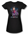 Betty Boop Juniors T-shirt City Chopper Black Tee