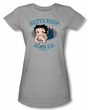 Betty Boop Juniors T-shirt Jean Co Athletic Heather Tee